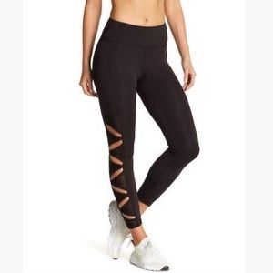 Nanette Lepore Black cutout panel leggings size M